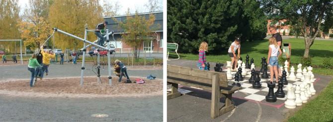 운동장과 공원에서 놀고 있는 어린이와 시민들 - 현수랑 기자 hsr@donga.com 제공